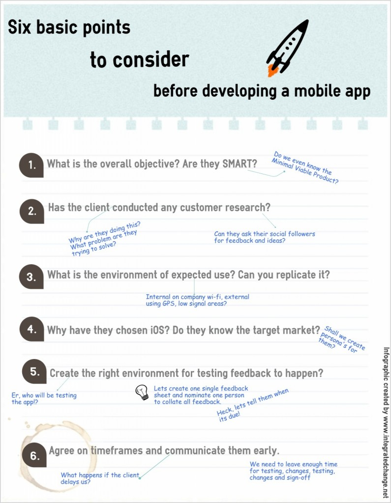 Six tips for mobile app development