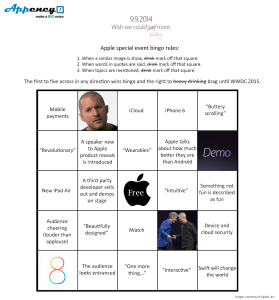 Apple announcement bingo_var1