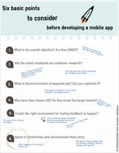 Six tips for mobile app development